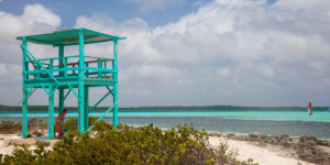 Lifeguard stand, Lac Bay, Bonaire