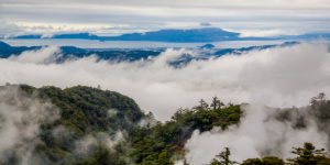 Japan - Landscape in the clouds Kirishima