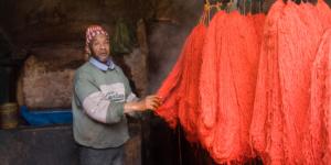 Wool dyer Souk, Marrakech
