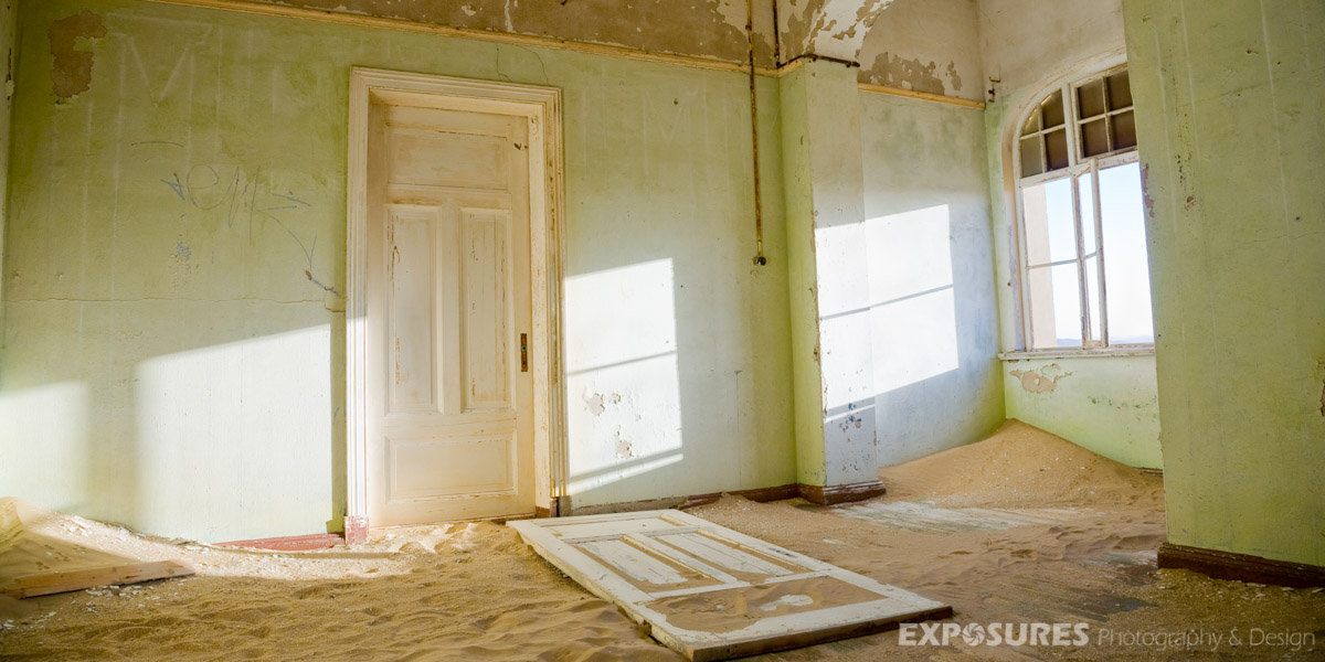 Abandoned houses in Kolmanskop, Namibia