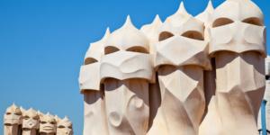 Barcelona (Spain) - Casa Milà (La Pedrera), Antoni Gaudi