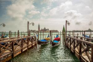 Gondolas, Venice with Isola di San Giorgio Maggiore in background