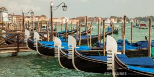 Gondolas, Venice in front of Palazzo Ducale