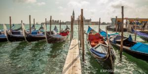 Gondolas, Venice with Isola di San Giorgio Maggiore in backgroun