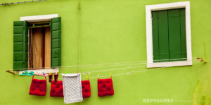 Colors of the the Italian Flag - Burano