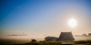 """""""Mist"""" Fog at the Zuiddijk, Zuidschermer"""